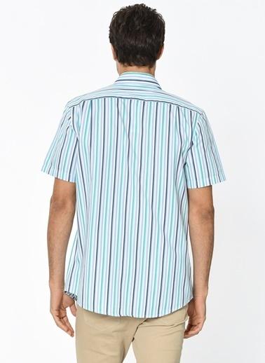 Kısa Kollu Çizgili Gömlek-Lacoste